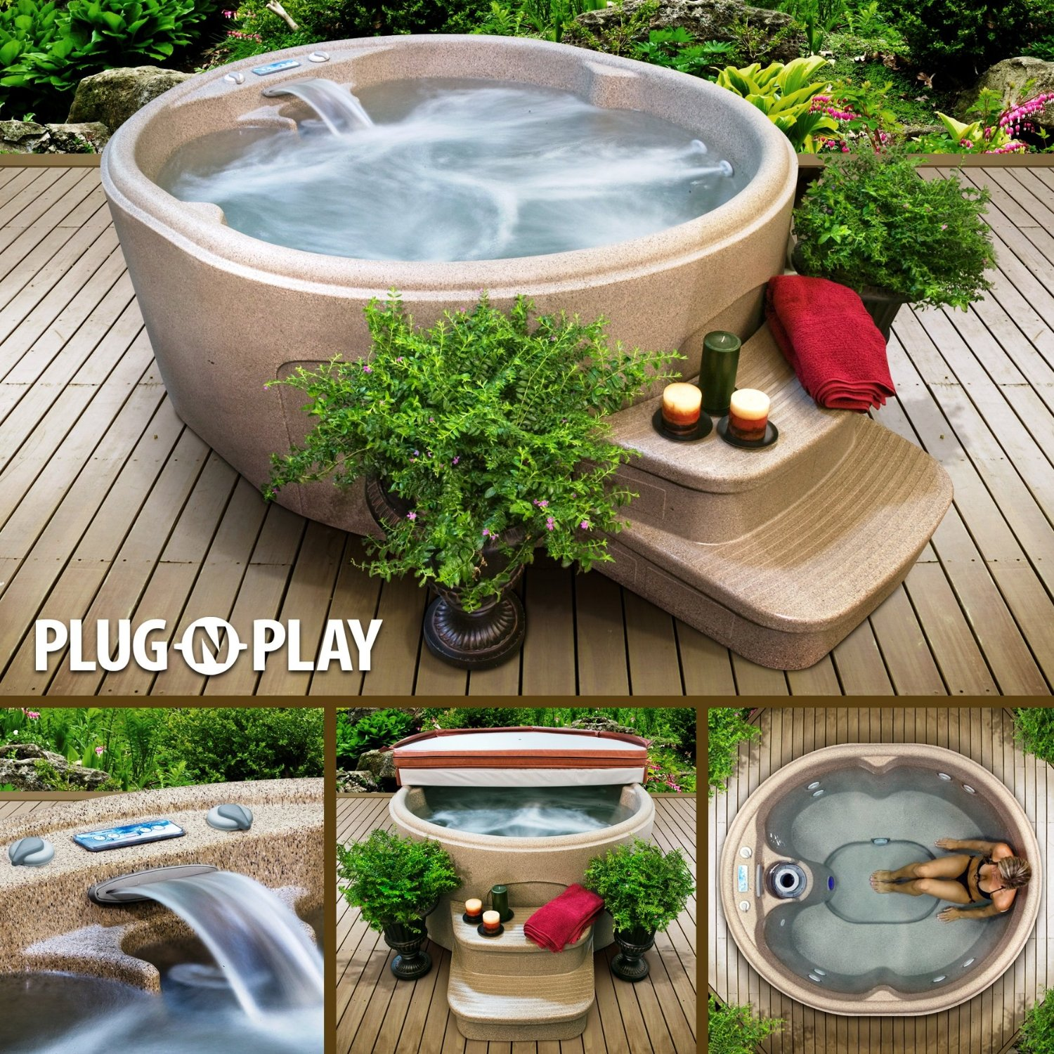 Plug n Play hot tub spa Rock Solid model