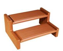 Redwood Plastic Spa Step