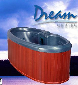 person hot tub spa by qca spas