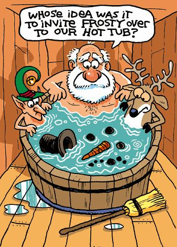 Hot Tub Holidays without Frosty
