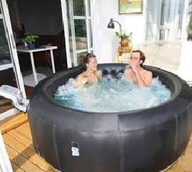 Relax in your own inflatable hot tub