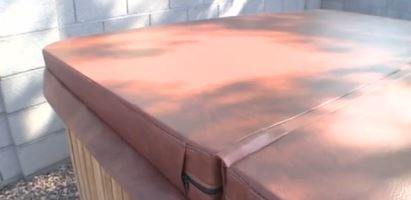 Buy a new hot tub cover online.
