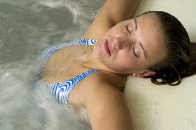 Relax in ozone purified spa