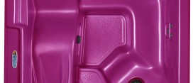 Hot pink hot tub color 2013.