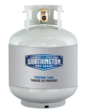 Propane tank for outdoor heater
