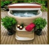 Rock solid spa with cover